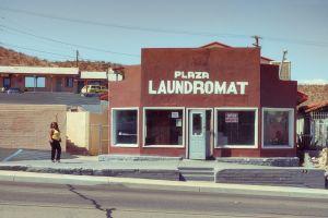 Posing at the Laundromat
